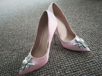 ASOS Priceless Embellished Pointed High Heels UK3