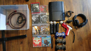 250GB PS3 Slim with PS Move, 8 games & Headset