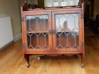 Old Charm Dark Oak Wall Mounted Bookcase - Very Good Condition
