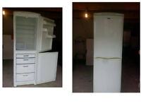 HOTPOINT FURTURE FRIDGE FREEZER 71 INCHES HIGHX 23.5 WIDE GOOD WORKING ORDER CAN BE SEEN WORKING