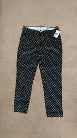 Polkadot slacks for sale! Never worn!