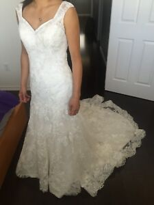 Maggie Sottero 2in1 Lace and Satin Wedding Dress