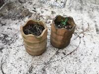 2 Planters - Chimney Pot