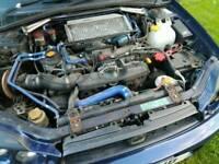 Subaru with rear end damage