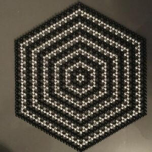 Beaded table mat