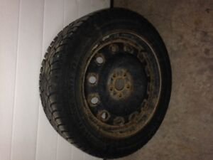 winter tire 16`` with steel rims.