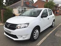 Dacia Sandero 2013 1.2L 5 door in white. 12 months MOT