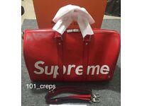Supreme Lv travel duffel bag