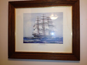"""Framed Nautical print by Jack Spurling """"Sovereign of the Seas"""""""