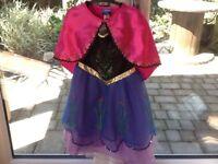 Disneys Frozen Anna dress and cape 3-4