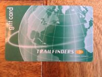 Trailfinders gift card with value of £100, selling for £80