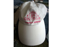 Women's/girls' white Varsity Angel baseball cap.