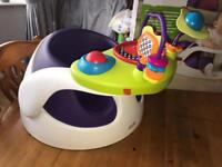 Mamas & Papas baby snug / bumbo style with play tray