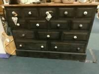 14 drawer black merchants chest