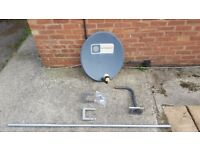 satellite dish with wall mounting kit
