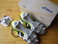 ASICS Size 8.5 UK 43.5 Euro - Brand New Lethal Tackle Rugby Boots