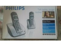 PHILIPS CORDLESS PHONE WITH ANSWERING MASCINE