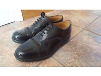 British Army Military RAF Leather Parade Shoes Size 8