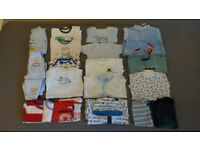 Bundle of baby boy clothes 0-3 months