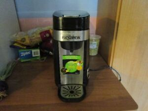 Flexbrew coffee maker, K cups and ground coffee