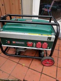 Parkside 4 stroke petrol generator 230V