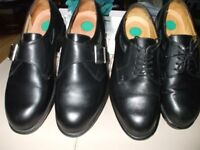 boys black leather shoes size 6½