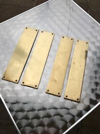 Brass finger plates for internal doors