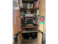 Huge corner desk cupboard