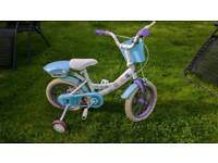 Frozen girls bike with removable stabilizers