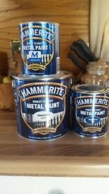 Hammerite Direct to Rust Metal paint White& Blue