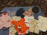 11 ITEMS OF BABY BOYS CLOTHES. AGE 0-3 MONTHS.
