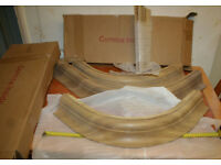 4 pieces of quality oak cornice (3 x 90 degree and one short straight)