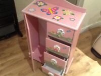Little girls wardrobe and drawers
