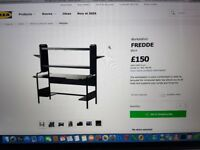 IKEA Fredde black workstation