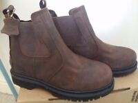 Real leather new safety boots