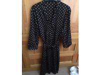 Black spotted Jaeger dress