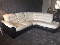 DFS Ripple Leather Corner Sofa