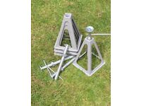 Motorhome levelling jack stands, Cast Aluminium