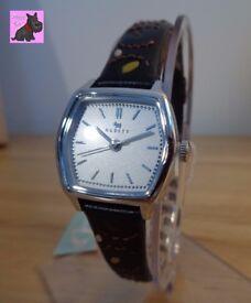 Radley RY2163 Ladies Black Leaf Stitched Leather Strap Watch - RRP: £110