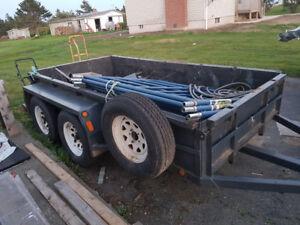 5ft x 10ft double axle utility trailer