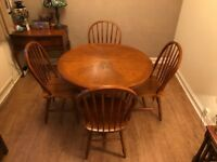 Dining Table with Four Spindle Chairs