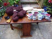 Wool for rug making and other craft items, includes some instruments