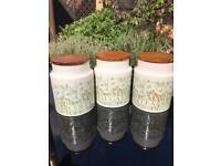 Hornsea Coffee, Tea & Sugar storage jar/pots set