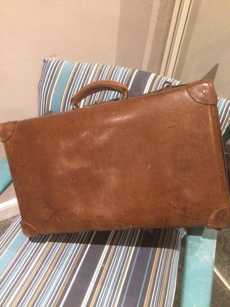Vintage retro suitcase