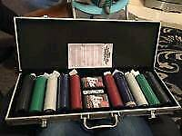 Professional poker set with table