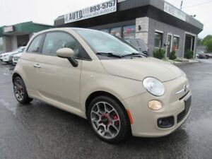 2012 Fiat 500 LOUNGE Leather, Sunroof, Sport Automatic