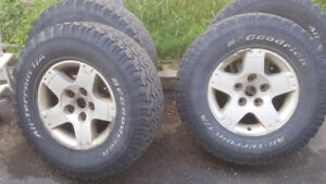 "Four used 17"" tires"