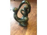 Shona sculpture representing Ukama or family Zimbabve stone sculpture