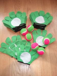 Velcro Ball Mitts -  x16 mitts and x6 balls