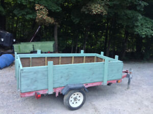 4 ft by 8 ft Trailer - Comes With A Good Jack Stand.